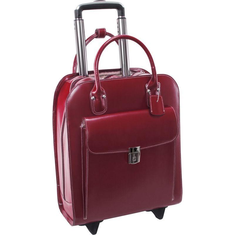 マックレイン メンズ スーツケース バッグ Uptown Rolling Business Case Red