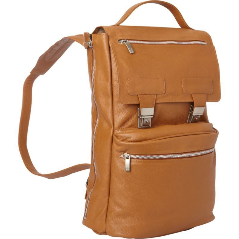 ピエール メンズ スーツケース バッグ Leather Vertical Backpack Saddle