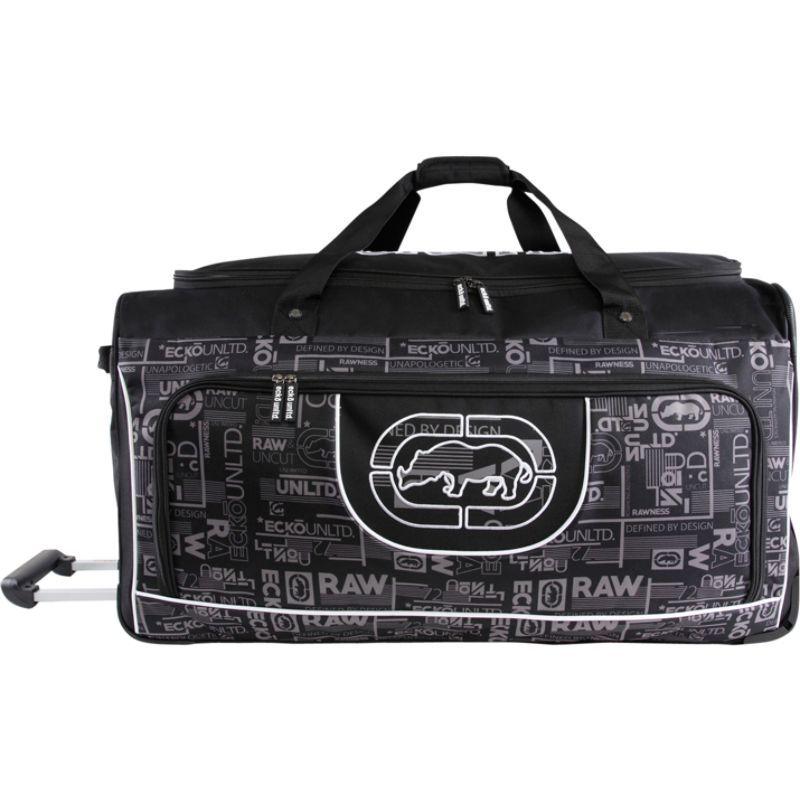 エコー メンズ スーツケース バッグ Alpha 32 Large Check In Rolling Duffel Bag Black