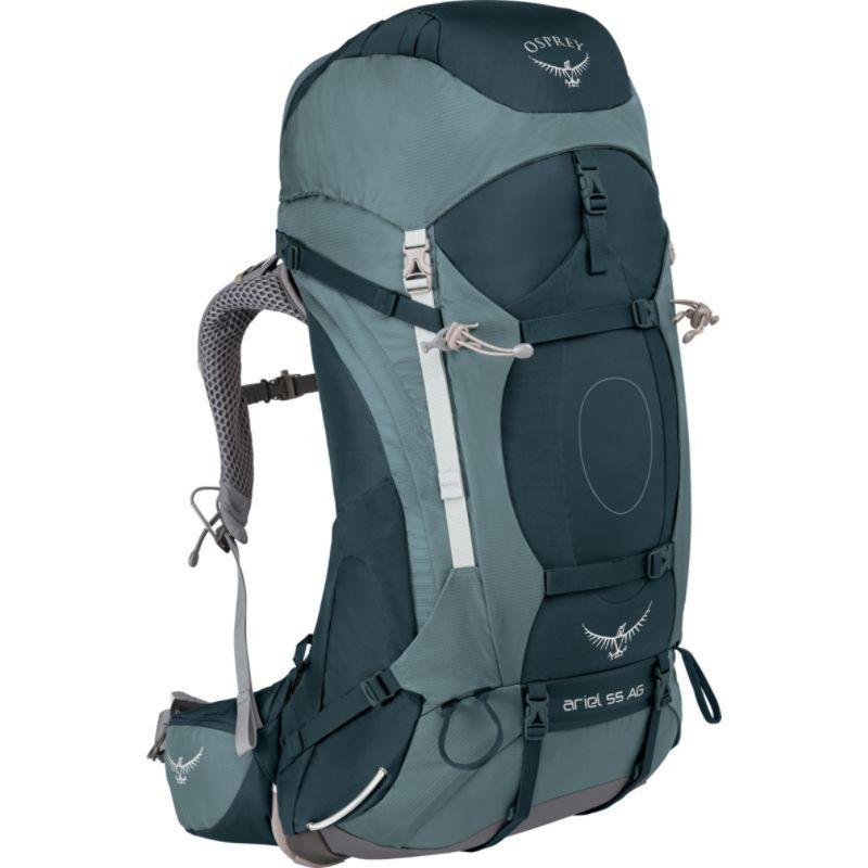 オスプレー レディース バックパック・リュックサック バッグ Womens Ariel AG 55 Hiking Pack Boothbay Grey WS