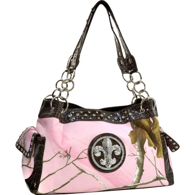 ダセイン メンズ トートバッグ バッグ Fleur de Lis Realtree Camouflage Shoulder Bag Pink Camouflage Coffee2EDIWH9Y