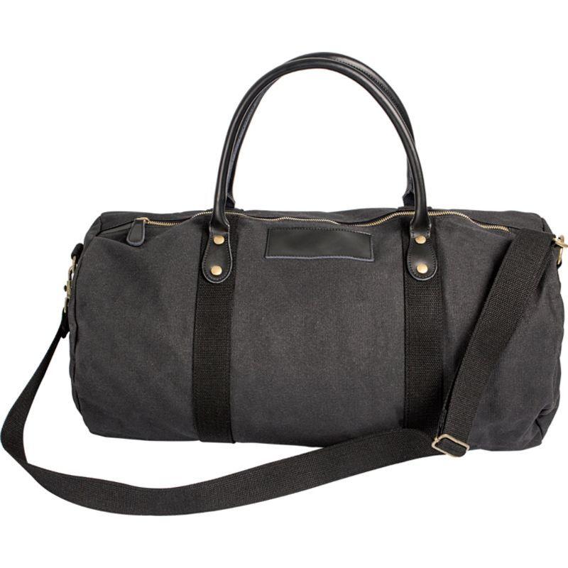 キャシーズ コンセプツ メンズ スーツケース バッグ Monogram Duffel Bag Black Plain