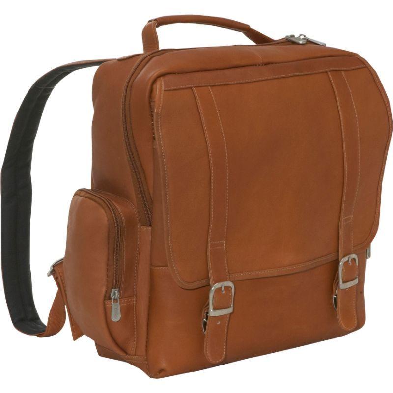 ピエール メンズ スーツケース バッグ Vertical Leather Laptop Backpack Saddle