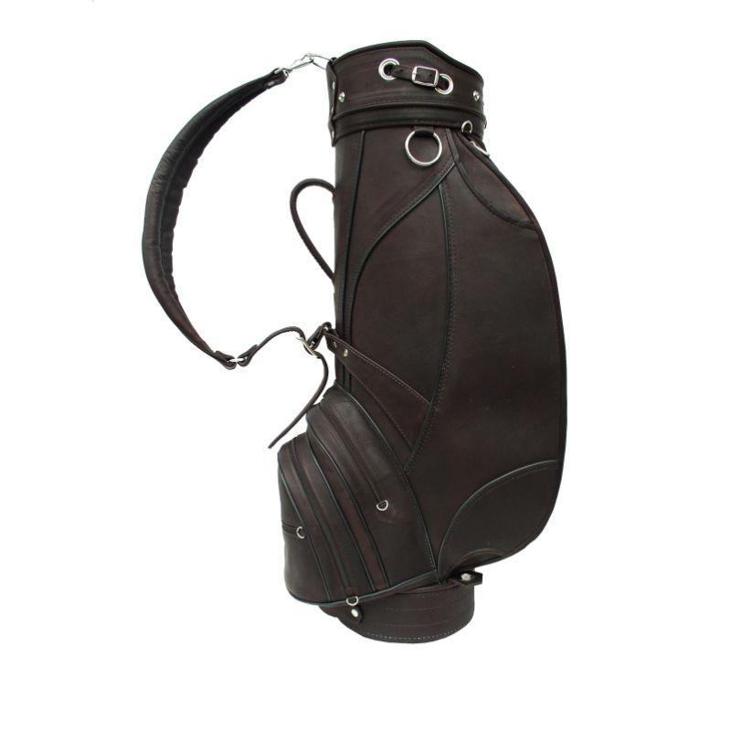 ピエール メンズ ボストンバッグ バッグ Deluxe 9 Leather Golf Bag Chocolate