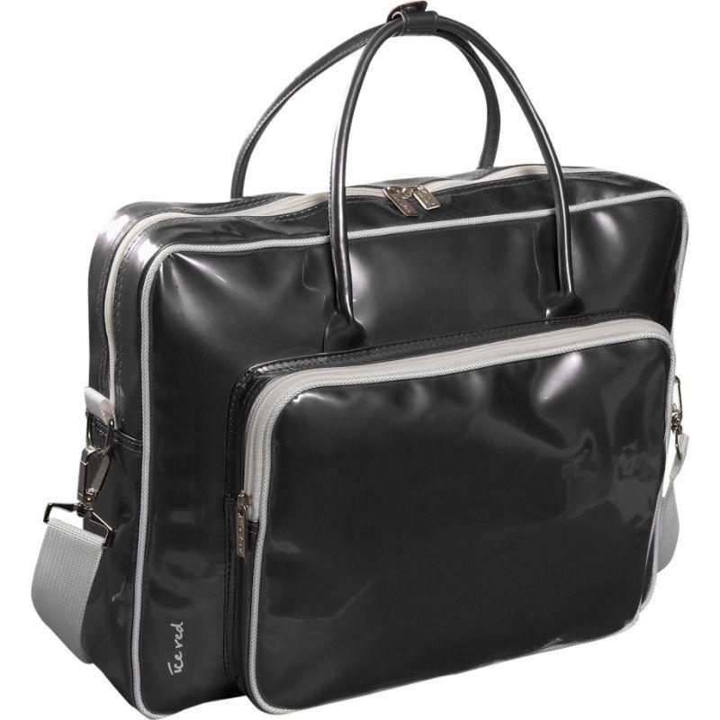 アイスレッド メンズ スーツケース バッグ Shine Glossy Laptop Tote Black