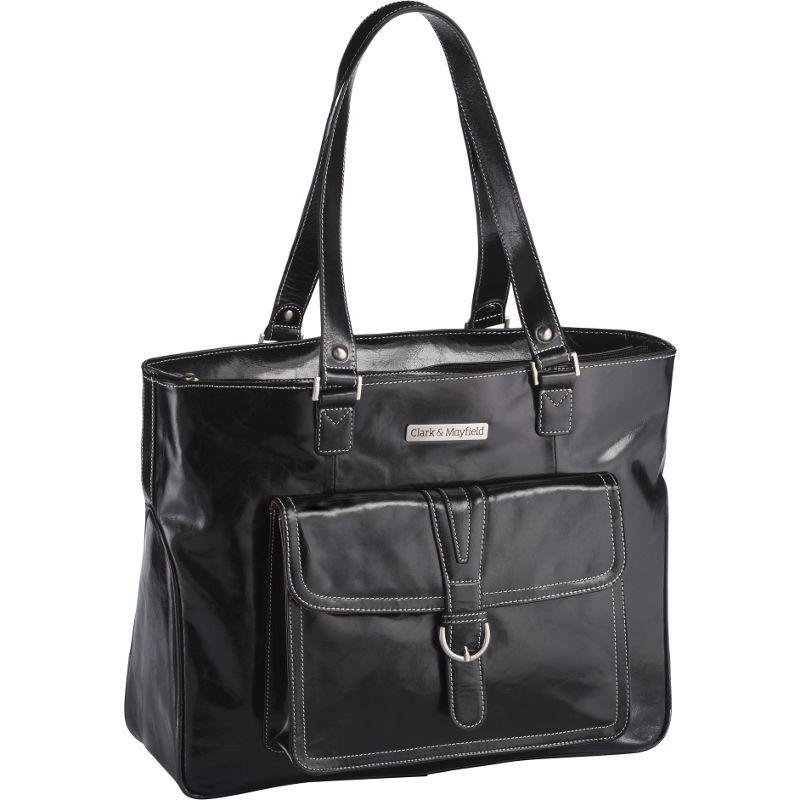クラークアンドメイフィールド メンズ スーツケース バッグ Stafford Vintage Leather Laptop Tote 17.3 Black