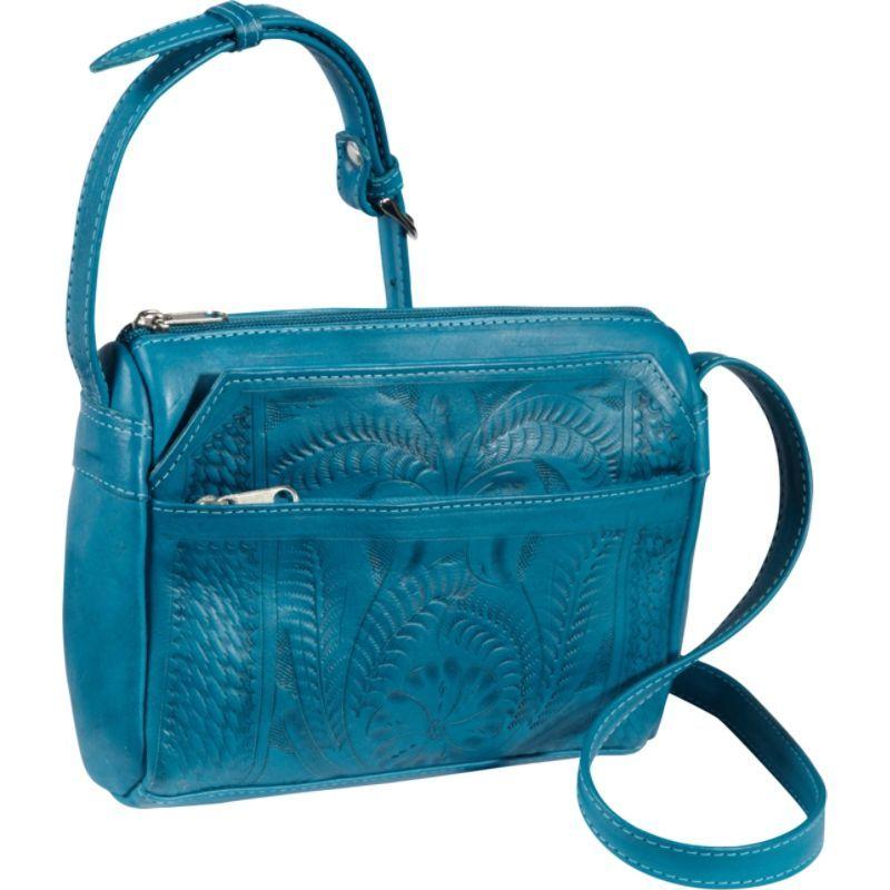 ロピンウェスト メンズ ショルダーバッグ バッグ Small Multipocket Shoulder Bag Turquoise