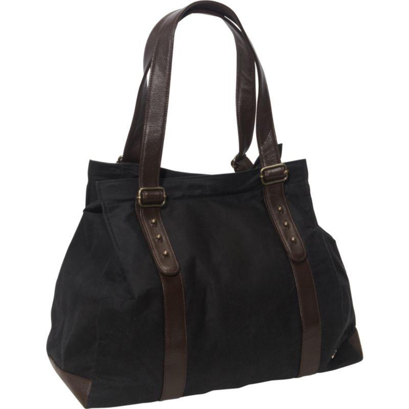 トーケン メンズ トートバッグ バッグ Crescent Waxed Tote Bag Black