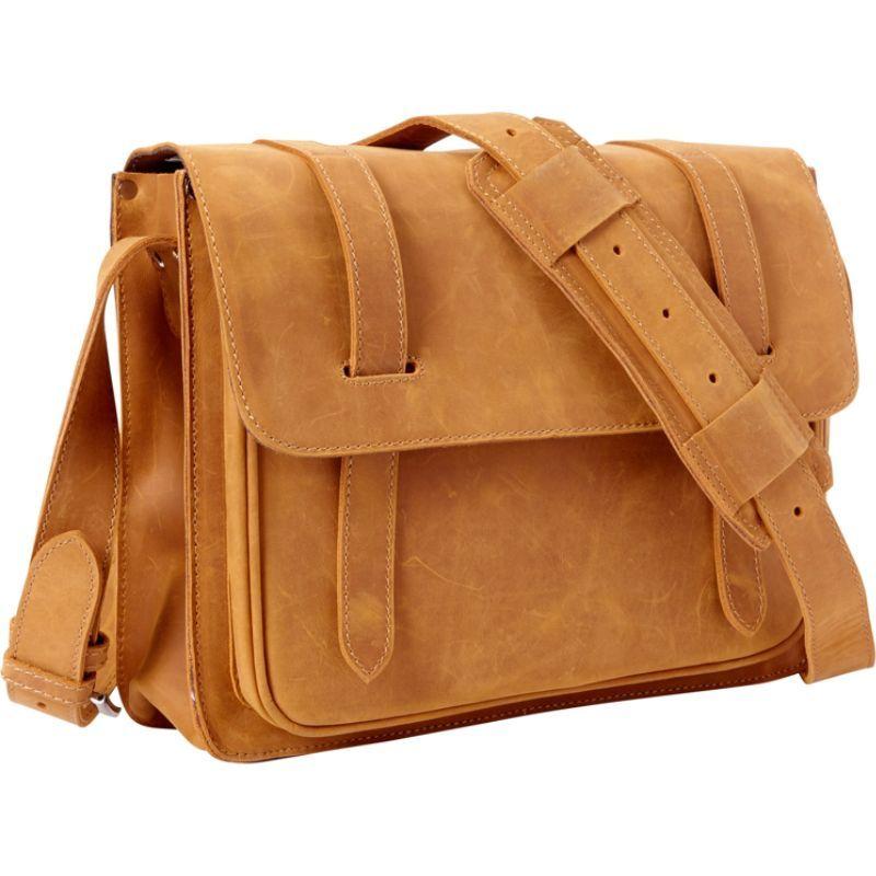 ヴァガボンドトラベラー メンズ スーツケース バッグ 14 Leather Laptop Bag Brown