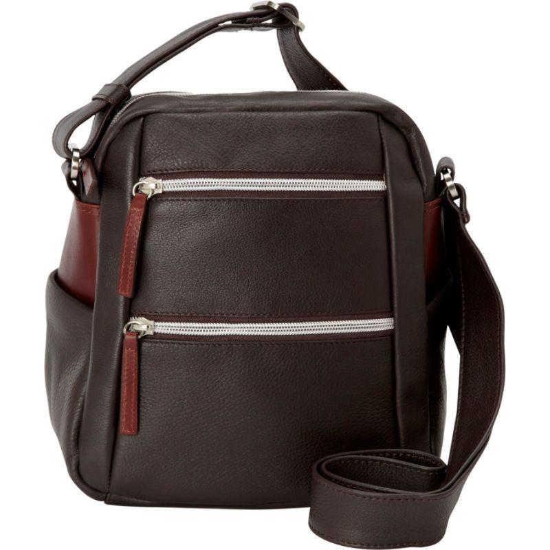 デレクアレクサンダー メンズ ボディバッグ・ウエストポーチ バッグ Top Zip Camera Bag Brown/Brandy