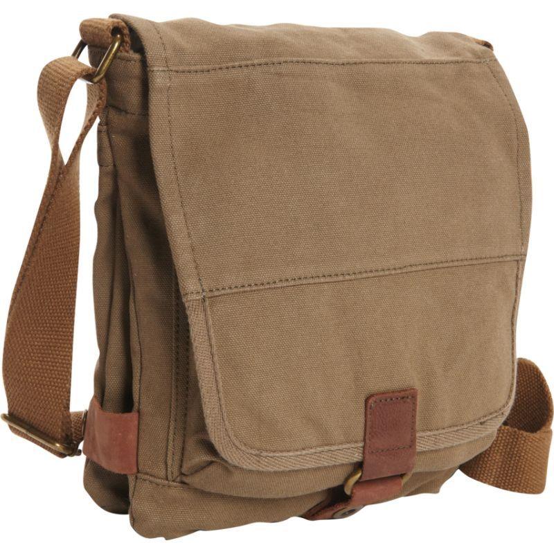 ヴァガボンドトラベラー メンズ ショルダーバッグ バッグ Tall 9.5 Small Satchel Shoulder Bag Military Green