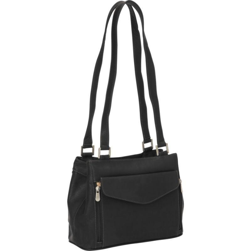 ピエール メンズ ショルダーバッグ バッグ Double Compartment Shoulder Bag Black