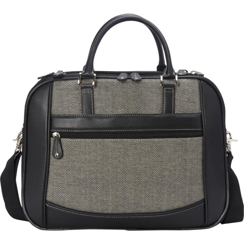 モバイルエッジ メンズ スーツケース バッグ Classic Herringbone ScanFast Checkpoint-Friendly Element 17 Laptop Briefcase Herringbone