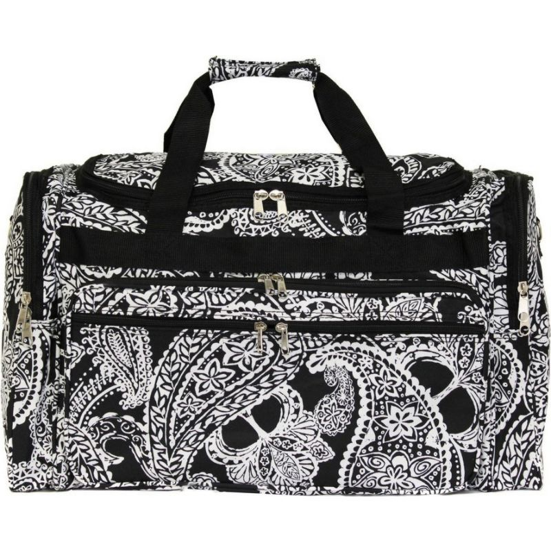 ワールドトラベラー メンズ スーツケース バッグ Paisley 19 Shoulder Duffle Bag Black White Paisley