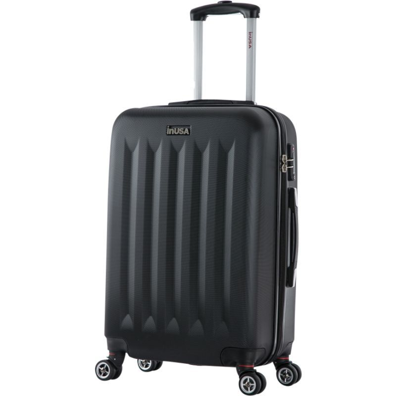 インユーエスエー メンズ スーツケース バッグ Philadelphia Collection 23 Lightweight Hardside Spinner Suitcase Black