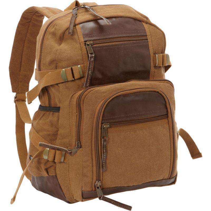 フォックスアウトドア メンズ バックパック・リュックサック バッグ Retro Londoner Commuter Daypack Brown