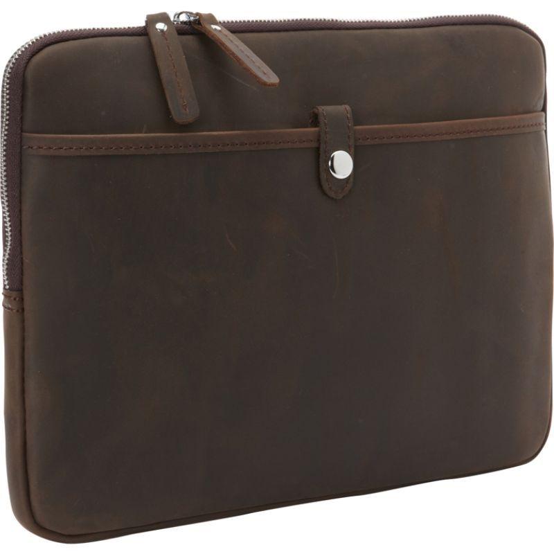 ヴァガボンドトラベラー メンズ スーツケース バッグ 13 MacBook Pro Full Grain Leather Sleeve Dark Brown