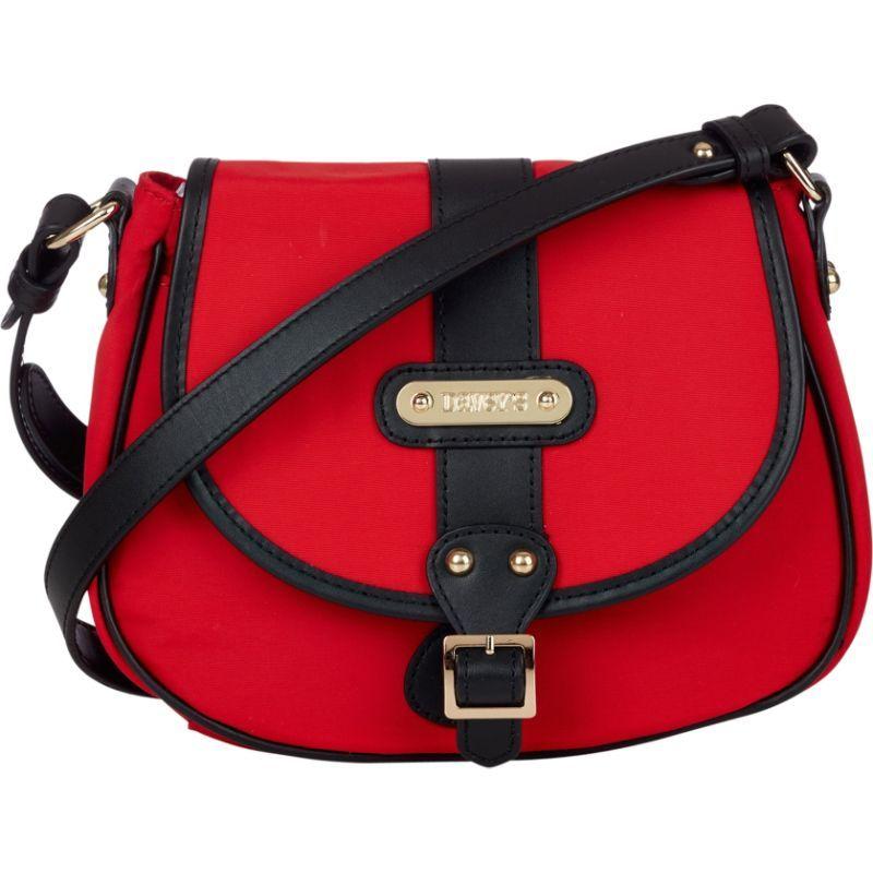 ダベイズ メンズ ボディバッグ・ウエストポーチ バッグ Crossbody Stripe Saddlebag Red/Black Leather