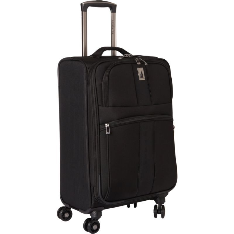 ロンドンフォグ メンズ スーツケース バッグ Wellington 360 Ultra-Lightweight 21 Expandable 8-Wheel Spinner Carry-On Black