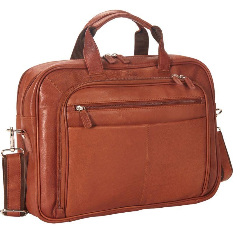 マンシニレザーグッズ メンズ スーツケース バッグ Colombian Zippered Double Compartment 15.6 Laptop/Tablet Briefcase Cognac
