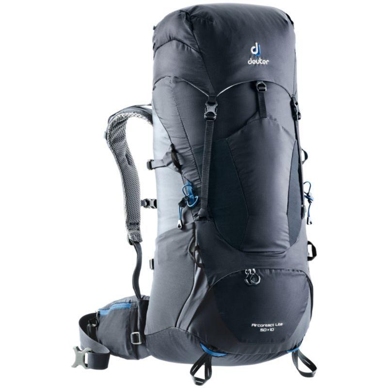 ドイター メンズ バックパック・リュックサック バッグ Aircontact Lite 50 + 10 Hiking Pac Black/Graphite