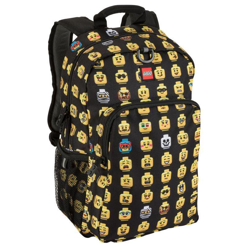 レゴ メンズ バックパック・リュックサック バッグ Minifigure Backpack & Lunch Black