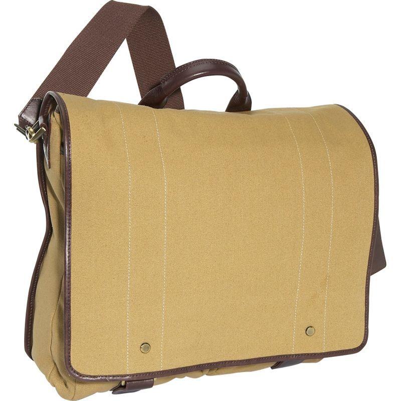 クレバ メンズ ショルダーバッグ バッグ Mail Bag - Canvas Khaki Canvas w/Cafe Trim