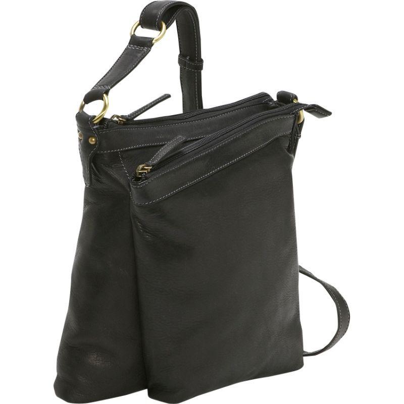 デレクアレクサンダー メンズ ボディバッグ・ウエストポーチ バッグ Medium Top Zip Handbag Black