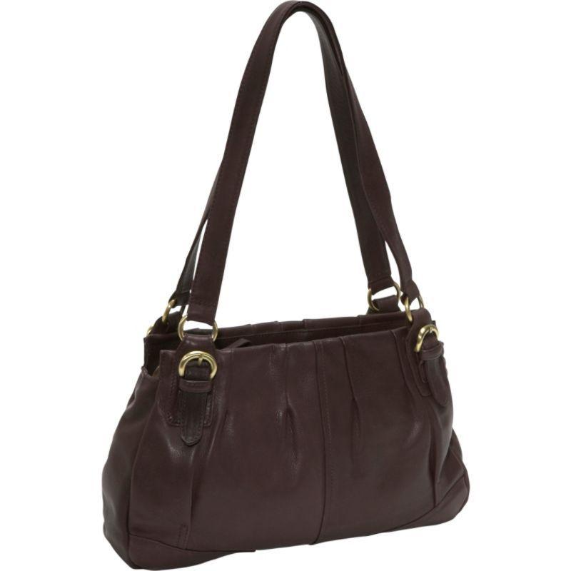 デレクアレクサンダー メンズ ショルダーバッグ バッグ EW Twin Shoulder Bag Brown