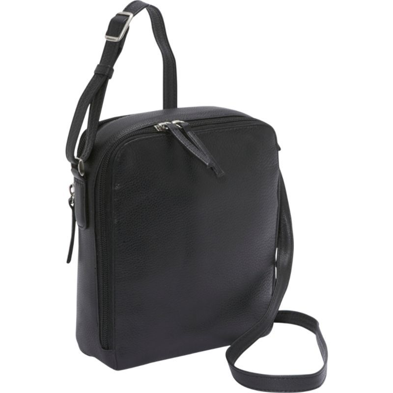 デレクアレクサンダー メンズ ボディバッグ・ウエストポーチ バッグ Two Top Zip Camera Bag Black
