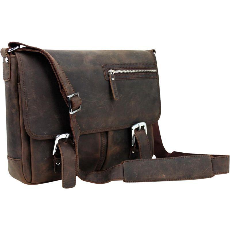 ヴァガボンドトラベラー メンズ ショルダーバッグ バッグ 15 Cowhide Leather Casual Messenger Bag Dark Brown