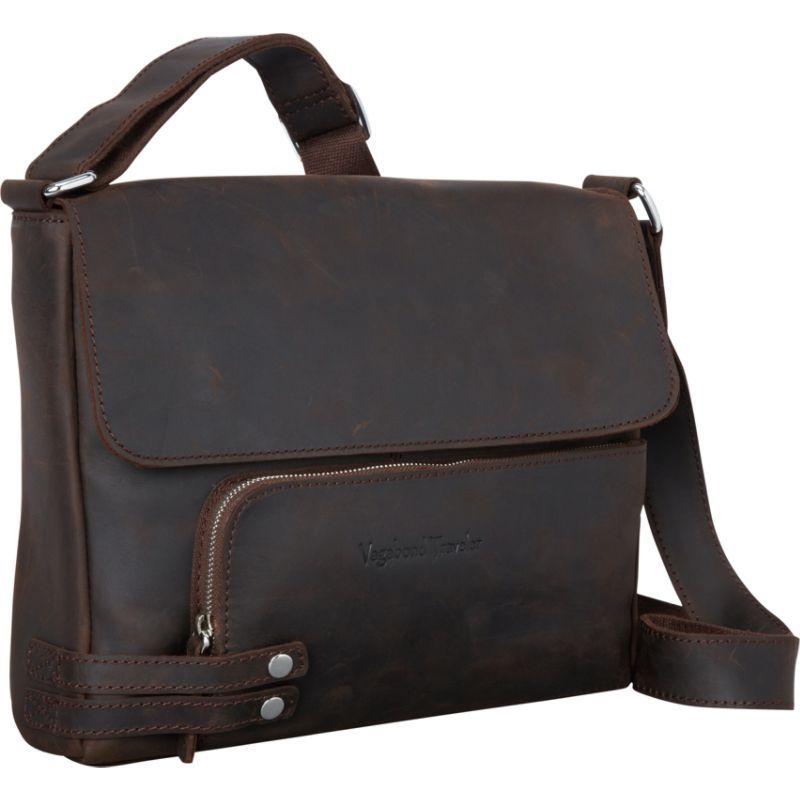 ヴァガボンドトラベラー メンズ ショルダーバッグ バッグ 13 Medium Leather Messenger Dark Brown
