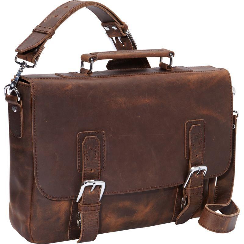 ヴァガボンドトラベラー メンズ ショルダーバッグ バッグ 16 Leather Messenger Bag Dark Brown