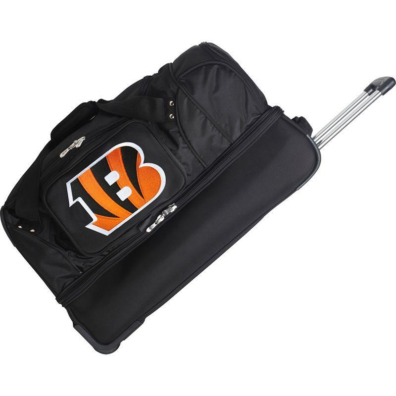 デンコスポーツ メンズ スーツケース バッグ NFL 27 Drop Bottom Wheeled Duffel Bag Cincinnati Bengals