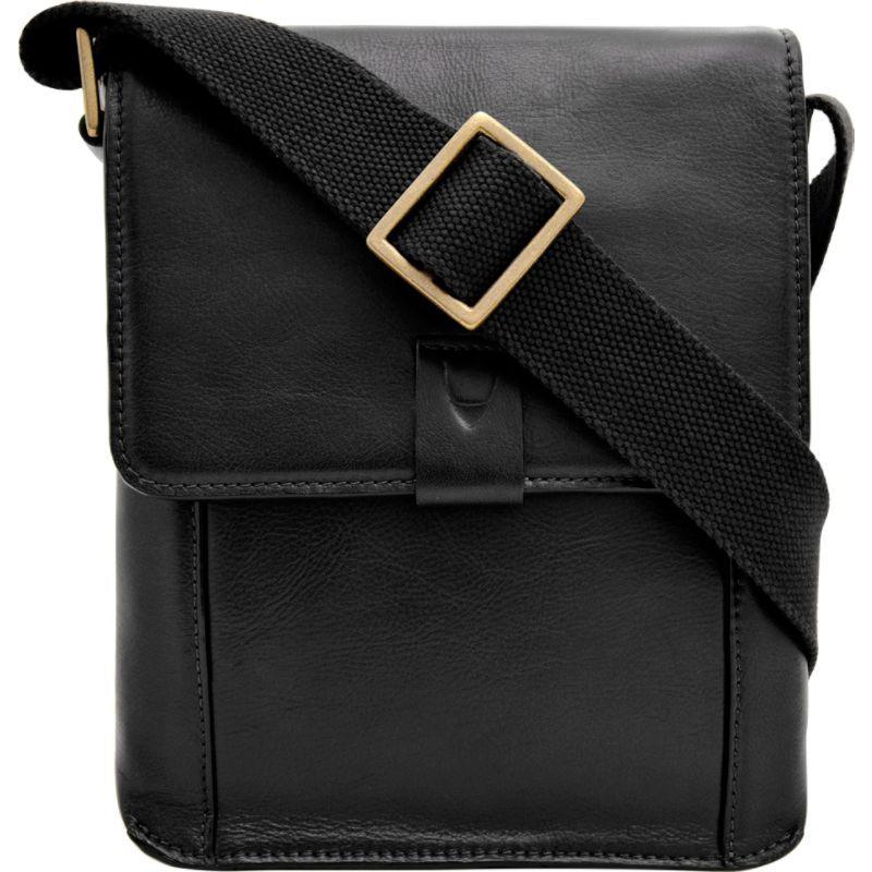 ハイデザイン メンズ ショルダーバッグ バッグ Aiden Small Leather Messenger Crossbody Bag Black