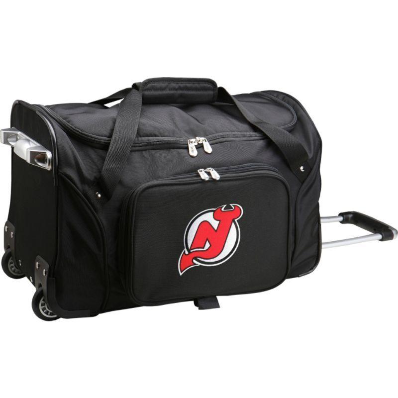 デンコスポーツ メンズ スーツケース バッグ NHL 22 Rolling Duffel New Jersey Devils