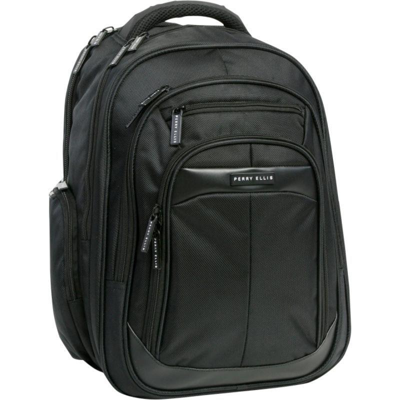 ペリーエリス メンズ スーツケース バッグ M140 Business Laptop Backpack Black