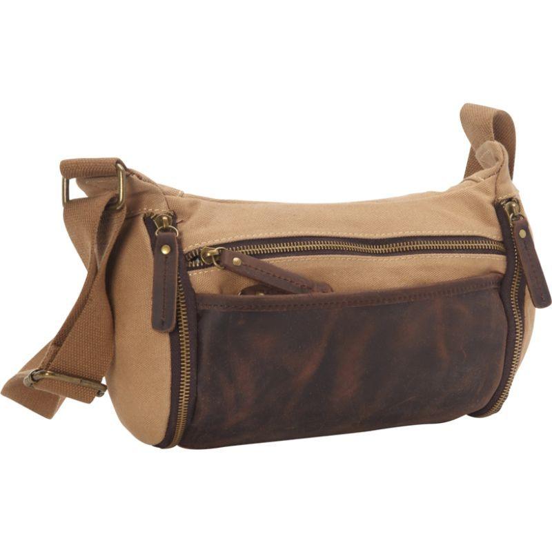 ヴァガボンドトラベラー メンズ ショルダーバッグ バッグ Stylish Canvas Leather Shoulder Bag Khaki
