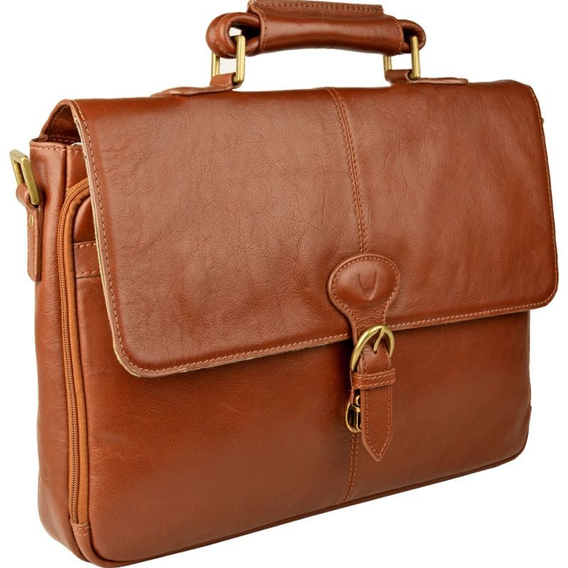ハイデザイン メンズ スーツケース バッグ Parker Leather Medium Briefcase Tan