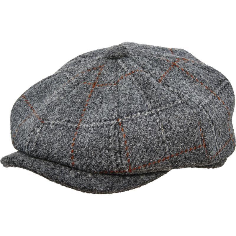 ステトソン メンズ 帽子 アクセサリー Italian Fabric 8/4 Cap Grey-large