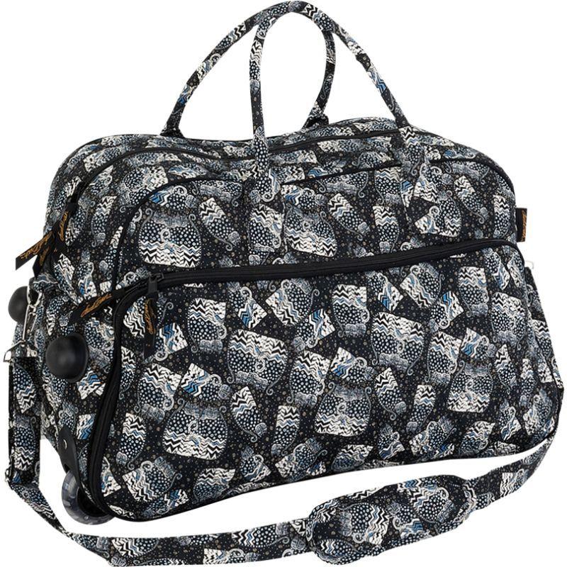 ローレルバーチ メンズ スーツケース バッグ Polka Dot Cats Wheeled Duffel Bag Multi