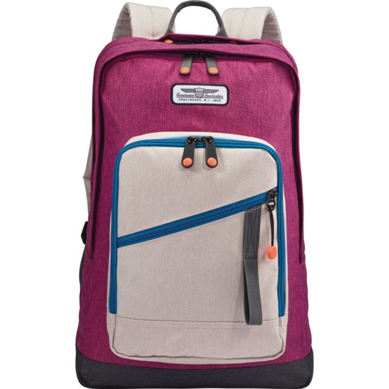 cfdae8a1dd4d アメリカンツーリスター メンズ バックパック・リュックサック バッグ Keystone Laptop Backpack  Purple/Beige/Blue - Exclusive 人気No.1