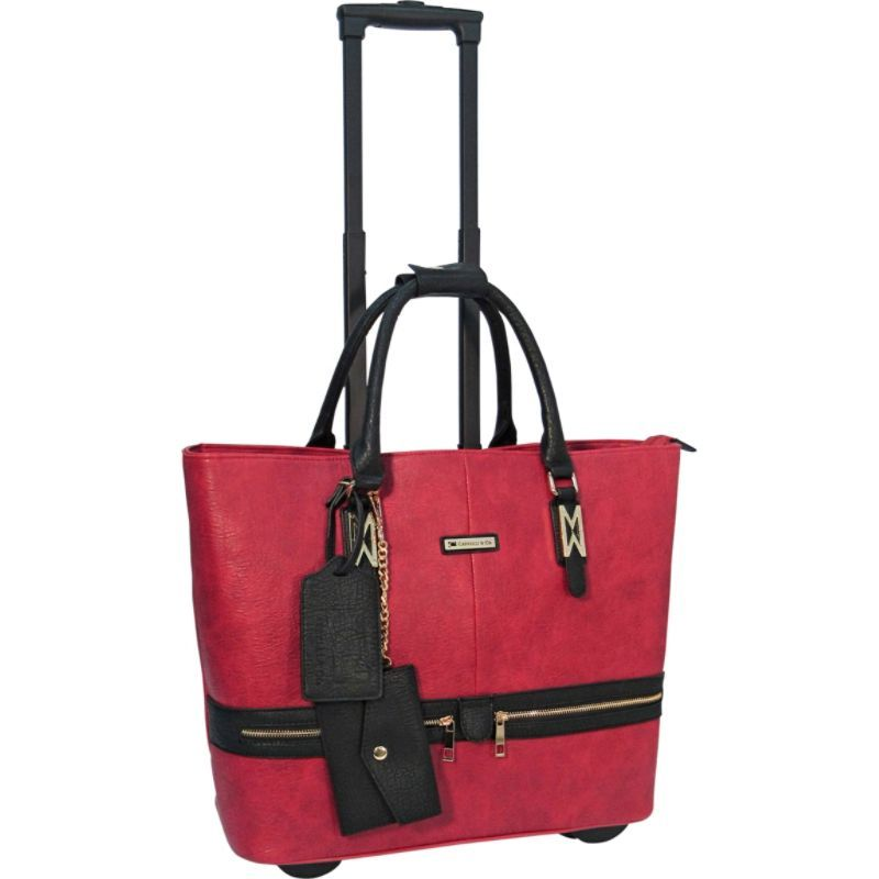 カブレリ メンズ スーツケース バッグ Fashion Executive Rolling Carry-On Brief Red