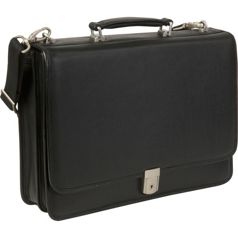 マックレイン メンズ スーツケース バッグ Bucktown Leather 15.6 Laptop Case Black