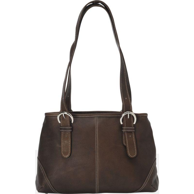 ピエール メンズ ショルダーバッグ バッグ Medium Buckle Handbag Chocolate
