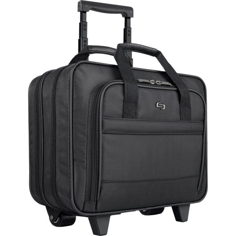 ソロ メンズ スーツケース バッグ 15.6 Laptop Rolling Case Black