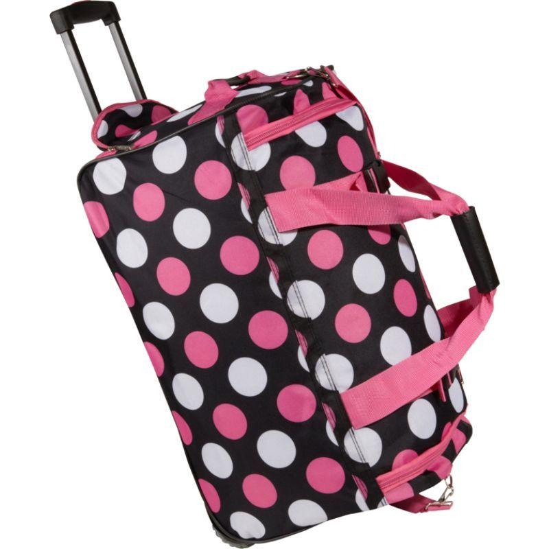 ロックランド メンズ スーツケース バッグ 22 Rolling Duffle Bag Multi Pink Dot