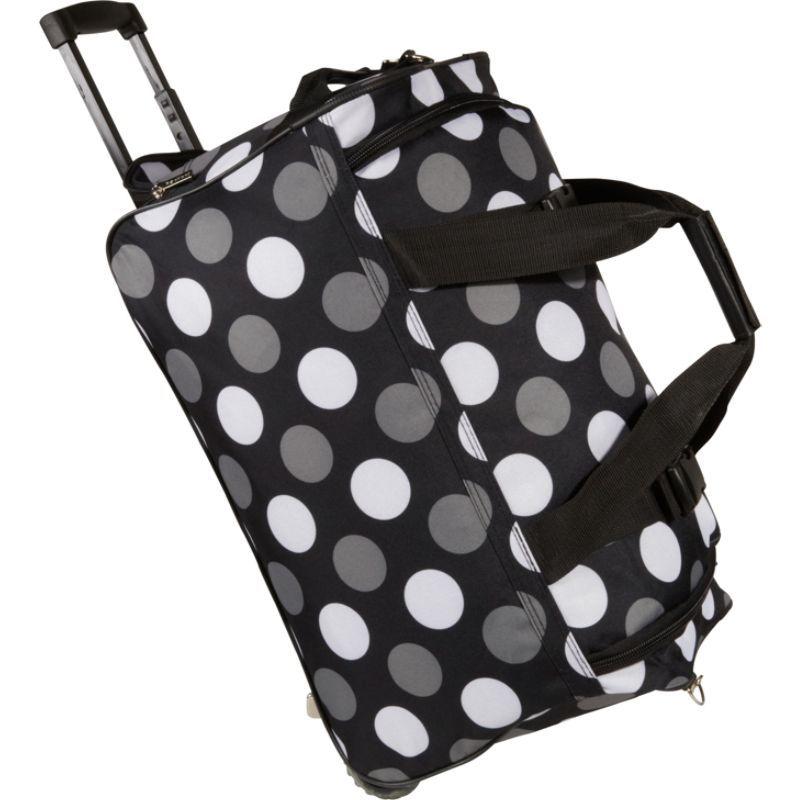 ロックランド メンズ スーツケース バッグ 22 Rolling Duffle Bag New Black Dot