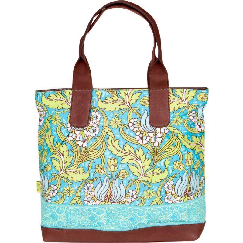 エミーバトラー メンズ トートバッグ バッグ Cara Tote Temple Tulips Turquoise