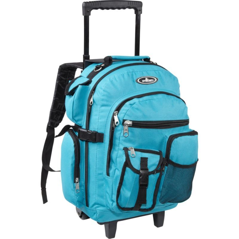 エバーレスト メンズ バックパック・リュックサック バッグ Deluxe Wheeled Backpack Turquoise